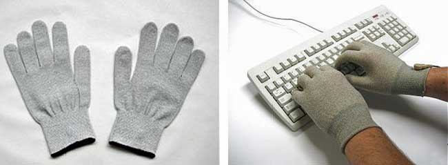EMF protection gloves